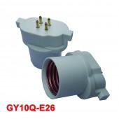 5pcs GY10Q to E26/E27 Lamp Base Conversion Socket Resistance PC GX10Q Socket