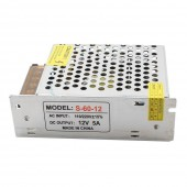 12V 5A 60W Powe Supply Lighting Transformer Adapter LED Driver
