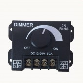 30A 360W DC 12V 24V Single Color LED Dimmer Switch Brightness Controller