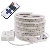 276 Leds/m LED Strip SMD2835 220V Waterproof Tape Rope Lamp with Light Controller for Home Decoration AU/EU/UK Plug