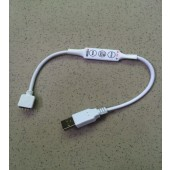 DC5V USB 3 Key Mini RGB Controller Dimmer For 5V USB 5050/3528 RGB LED Strip Light