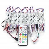 20PCS Addressable 3LEDs 5050 SMD RGB LED Light LED Pixel Module Waterproof 2811 IC DC12V + 1pc Free 21 key Controller