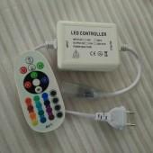 24Key RF Remote AC 110V 220V RGB LED Controller 750W EU Plug US Plug 8mm PCB / 10MM/12mm PCB Connector