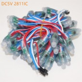 Free Shipping DC5V WS2811IC Led Pixel Module 12mm Digital Full Color RGB Independently Addressable String Lights Waterproof IP68