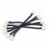 10mm 4 Pin Led Strip Connector For 5050 RGB Led Strip Light With Wire 300Pcs/Lot