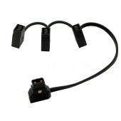 D-Tap Male to 3 Female extension cable for BMCC Anton V mount L=0.5m