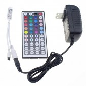 44 Key IR Remote Controller Wireless + DC 12V 2A Power Supply Adapter