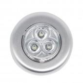 3LED Battery-Powered Wireless Night Light Stick Tap Touch Lamp Stick-on Push Light Put It Anywhere 10Pcs