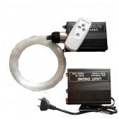 16W RGB fiber optic light engine driver + 5M 0.75mm 150pcs fibra optica Light optic fiber light kit