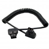D-Tap Male to D-Tap Male 12 VDC Coiled Cable For DSLR Rig Anton Bauer Battery
