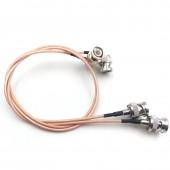 BNC plug to BNC plugs elbow Camera SDI Video line. Camera RF coaxial cable, Cable length 50cm
