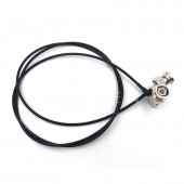 BNC Plug To BNC Plugs Elbow, Video Transmission lines, Coaxial Video Camera Monitor. Camera RF coaxial cable, Cable length 1M