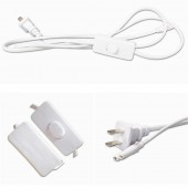 2pcs 1.5m Power Extension Cord For Integrated LED T5 T8 Light Tub 2-Core EU AC Power Plug Light Socket Cord With ON/OFF Switch
