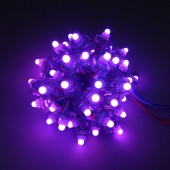 LED Pixel Module String DC12V Ws2811 Full Color Addressable Square Strand Waterproof Holiday Decoration Sign Lighting