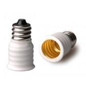 10pcs E12 to E14 Lamp Base Conversion Socket Resistance PC E12 Socket