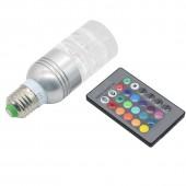 16 Colors Changing Energy Saving Clear Crystal E27 3W RGB LED Lamp Light AC 85-265V