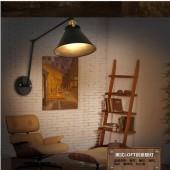 Industrial Vintage E27 long Arm Wall Lamp Adjustable Wall Lights LOFT Handle Metal Sconce Fixtures Cafe Restaurant Home Aisle