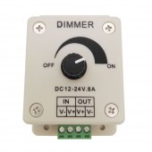 2 Pcs LED Dimmer DC 12V 24V 8A 96W Adjustable Brightness Lamp Bulb Driver Single Color 5050 3528 Strip Light