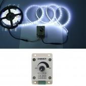 LED Dimmer DC 12V 24V 8A 96W Adjustable Brightness Lamp Bulb Strip Driver Single Color Light Power Supply Controller 5050 3528