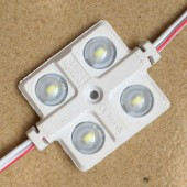 20pcs 4LEDs 5630 5730 LED module 12V with concave lens Waterproof Lighting