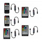 2 Pcs LED Strip Controller with RF Wireless Remote DC5V 12V 24V 6A for Single Color Dual White RGB RGBW RGB+CCT Strip Light controller