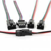 50pair 2/3/4/5 Pin Led Connector Male/female RGB/RGBW Jst Connector With Wire Cable Led Light