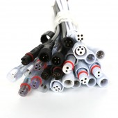 5pairs 2 pin / 3 pin / 4 Pin Waterproof Connector With Wire Cable IP68 Female Male Plug 2X 0.3(mm2)