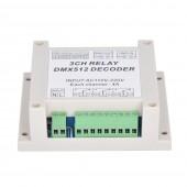 3CH DMX512 Relay Controller 3CH RELAY OUTPUT Relay Decoder WS-DMX-RELAY-3CH-220