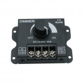 LED Dimmer DC 12V 24V 30A 360W Adjustable Brightness Lamp Bulb Strip Driver Single Color Light Power Supply Controller