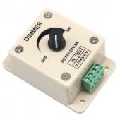 2Pcs 12V 24V DC 8A White Single Color LED Dimmer  Controller For LED Lamp Strip Light