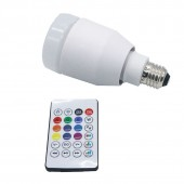Intelligent E27 LED RGB&White Light Ball Bulb Colorful Lamp Smart Music Audio Bluetooth Speaker With Remote Control