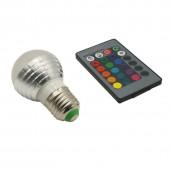 5Pcs 3W RGB Lampada LED Bulb E27 85-265V RGB LED Lamp E27 220V 110V Spotlight Lamparas LED Light Bulb Christmas Lampadas