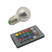 5Pcs E27 E14 LED 16 Color Changing RGB Magic Light Bulb Lamp 85-265V RGB Led Light Spotlight 24K key IR Remote Control