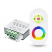 LED Mini Wireless RF Touch RGB Controller With RF Remote