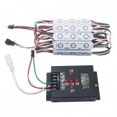 20Pcs WS2811 3 LED Module Lighting DC 12V SMD5050 RGB LED Pixel Digital Module String Light Waterproof Advertising Sign Lamp