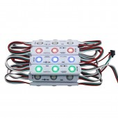 20Pcs 5050 3 LED Injection With Round Lens Module Full Color 20Pcs