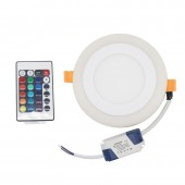 9W RGBW Round Led Dimmable Downlight Panel Light with Controller