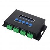 5-24V 4CH Ethernet-SPI/DMX LED Pixel Light Controller Support IC 2811/2801/6803
