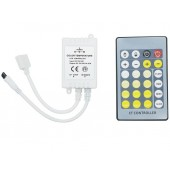 2Pcs/Lot Dual White CCT Color Temperature Controller With 24 Key IR Remote Dimmer DC 12-24V FOR CCT LED Strip Light Brightness