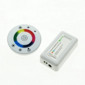 18A 7 Keys RF Remote LED Touch Round RGB Controller DC12V-DC24V