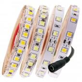 5M LED Strip Light 12V 4040 SMD + DC Connector 120Leds/M More Bright Than 5050 5630 2835 Decoration Rope Light