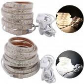 5M ED Strip Light LED Tape AC 220V SMD 2835 180LEDsM Flexible LED Light 3M EU Plug