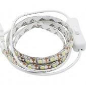 SMD 5050 60LED USB 5V LED Strip TV Background Lighting USB Cable With Switch Strip Via EPacket
