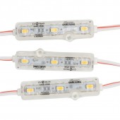 50Pcs New Design With Lens Ultrasonic Seal LED Module Waterproof LED Back Light DC12V 1.2W SMD 5730 3 Led IP68