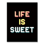 Life Is Sweet Modern Canvas Print Motivational Words For Life Giclee Print On Canvas 16 x 24 Inch