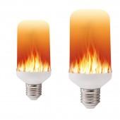 Light Corn SMD Bulb 66LEDs Live E27 Lamp Flame 2835 Light B22 Fire Bulb 85-265V 5W LED Flickering 1800K Bulb 85V-240V E14