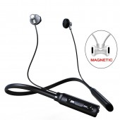 Curled Stereo Wireless Bluetooth Headphone Headset Outdoor Sports Premium Neckband Earphones With Mic For IPhone XiaoMi
