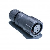 5 Pairs M14 -3 Pin 250V 15A Male And Female Electrical Connector Cable Size 7.5mmsq
