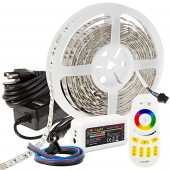 MiLight WiFi RGB Smart LED Strip Light Kit 12V LED Tape Light W/Remote or WiFi Controller Hub 244 Lumens/ft