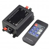 Mini 11key RF Wireless Remote DC12V-24V Brightness Switch Controller Dimmer For 5050 3528 2835 Single Color LED Strip Light Tape